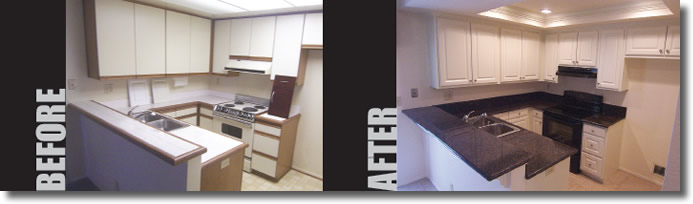 Give Your Kichen A BRAND NEW LOOK Without Changing Existing Cabinet Layout Kitchen Refacing Before And After